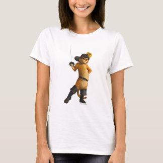 CG-Mietze bewegt Klinge wellenartig T-Shirt
