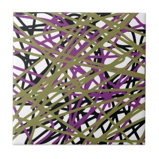 CGDHFN abstrakte Digital Linie-Kunst Kleine Quadratische Fliese
