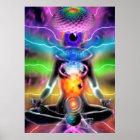 Chakra Aktivierungs-Meditations-Plakat Poster