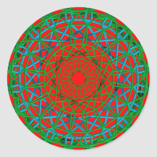 Chakra Grün, Rot, blauer Aufkleber