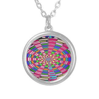 Chakra Mandala-Kreis runde kreisförmige bunte Halskette Mit Rundem Anhänger