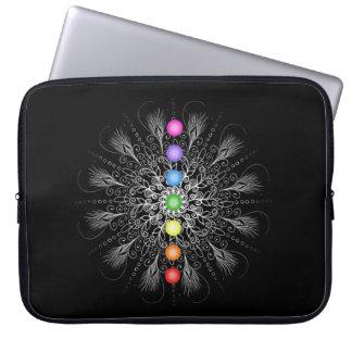 Chakra Mandala-Laptop-Hülse Laptop Sleeve