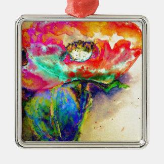 Chakra Mohnblume Silbernes Ornament