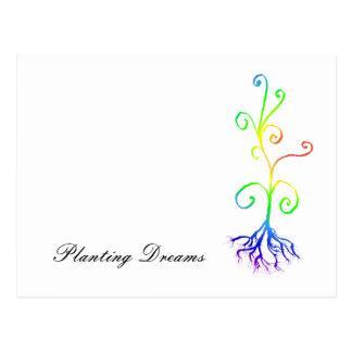 chakra Pflanze, Träume pflanzend Postkarte