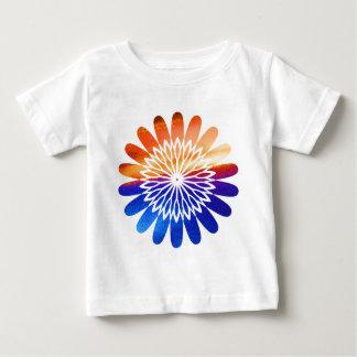 Chakra rundes grafisches Blumen-Juwel Baby T-shirt