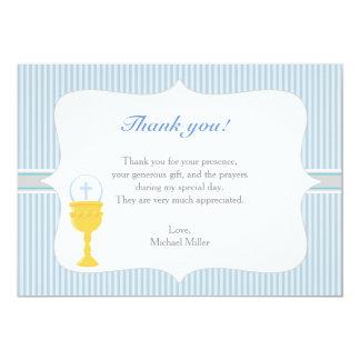 Chalice-Kommunions-Blau dankt Ihnen zu kardieren Karte