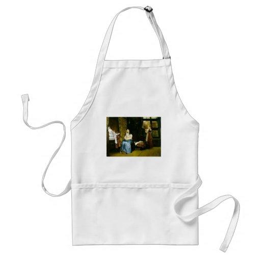 Chambre de naissance de Lawrence Tadema-, 17ème si Tablier