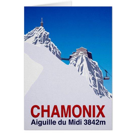 Chamonix Grußkarte