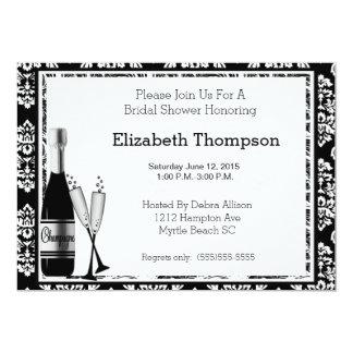 Champagne-Brautparty-Einladung