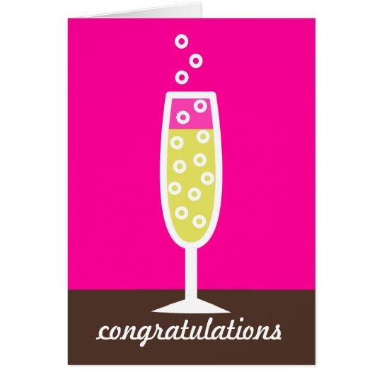 Champagne-Glückwünsche Grußkarte