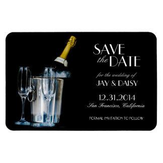 Champagne-Silvester formal Save the Date Magnet