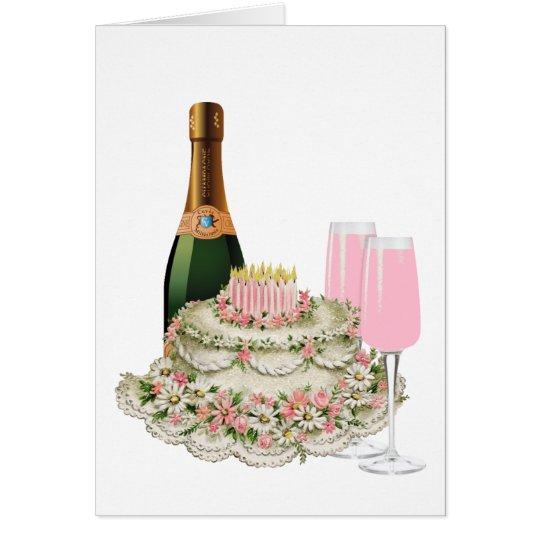 Champagne-Toast-Geburtstag Karte
