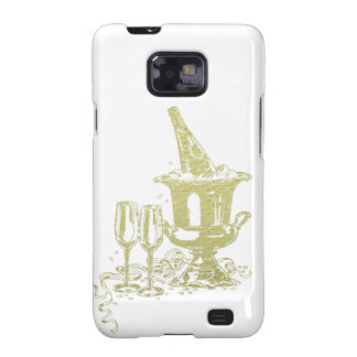 Champagne und Glas-Kunst Galaxy SII Hülle