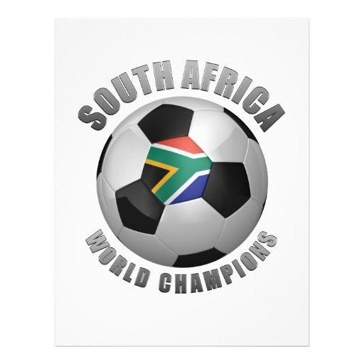 CHAMPIONS DU FOOTBALL DE L'AFRIQUE DU SUD PROSPECTUS EN COULEUR