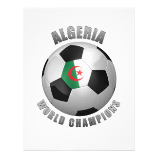 CHAMPIONS DU FOOTBALL DE L'ALGÉRIE TRACT CUSTOMISÉ