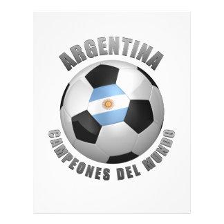 CHAMPIONS DU FOOTBALL DE L'ARGENTINE PROSPECTUS PERSONNALISÉS