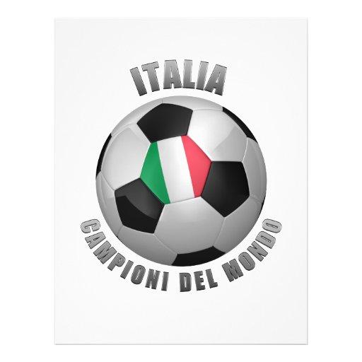 CHAMPIONS DU FOOTBALL DE L'ITALIE PROSPECTUS AVEC MOTIF