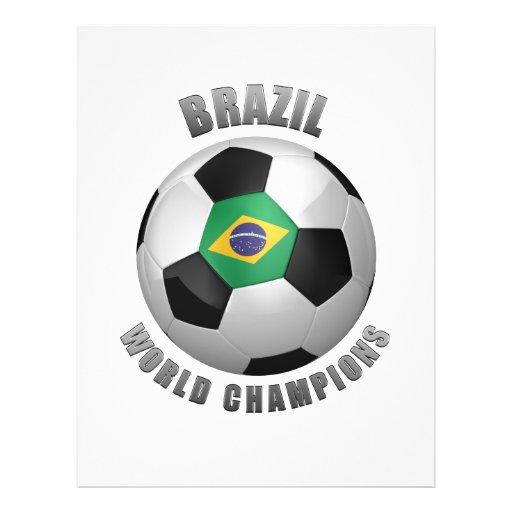 CHAMPIONS DU FOOTBALL DU BRÉSIL PROSPECTUS PERSONNALISÉS