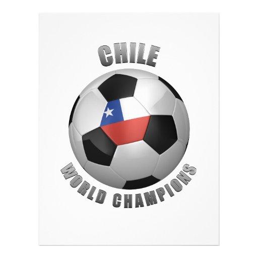 CHAMPIONS DU FOOTBALL DU CHILI PROSPECTUS PERSONNALISÉS