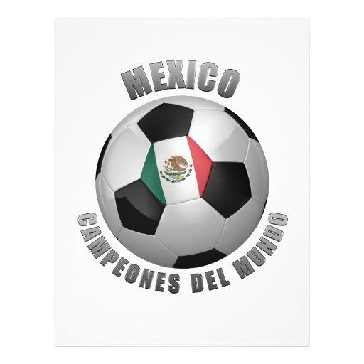 CHAMPIONS DU FOOTBALL DU MEXIQUE PROSPECTUS PERSONNALISÉS