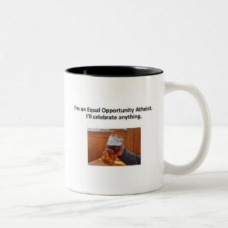 Chancengleichheits-Atheisten-Tasse Zweifarbige Tasse