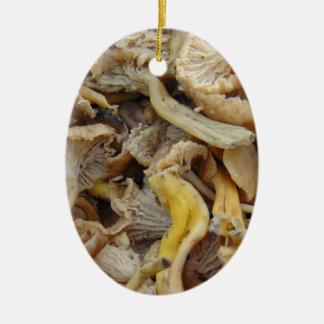 Chantarelle Pilze Keramik Ornament