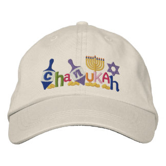 Chanukah Buchstaben Bestickte Mütze