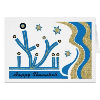 Chanukka/Chanukah Gruß-Karte mit Umschlag Grußkarte