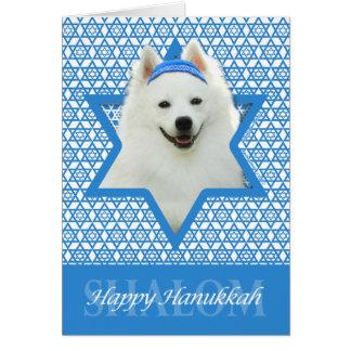 Chanukka-Davidsstern - Amerikanischer Eskimohund Grußkarte