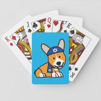Chanukka glücklicher jüdischer spielkarten