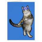 Chanukka-Karte für Jungen-Tanzen-Katze Karte
