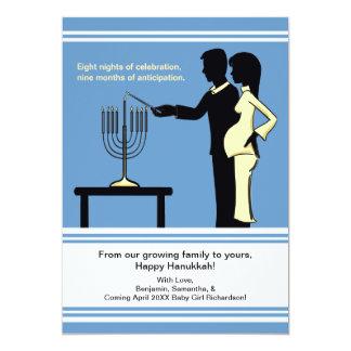 Chanukka-Schwangerschafts-Mitteilung kardiert 12,7 X 17,8 Cm Einladungskarte