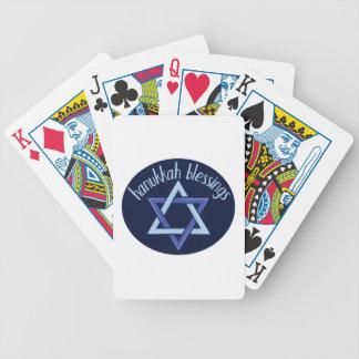 Chanukka-Segen Bicycle Spielkarten