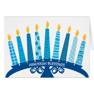 Chanukka-Segen-FriedensLiebe-Glück-Kerzen Karte
