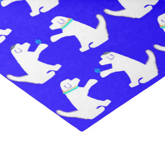 Chanukka-Seidenpapier mit niedlichen Hunden Seidenpapier