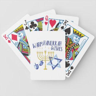 Chanukka-Wünsche Bicycle Spielkarten