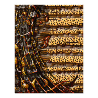Chaotischer Whirl des Tiger-u. Cheetah-Musiknotens