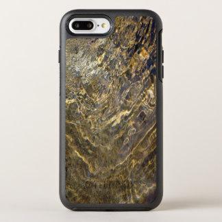Chaotisches abstraktes goldenes Brunnen-Wasser OtterBox Symmetry iPhone 8 Plus/7 Plus Hülle