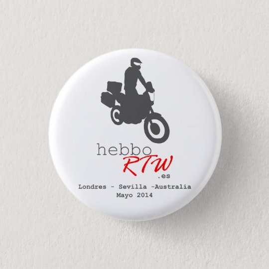 Chapa de HebboRTW Runder Button 3,2 Cm