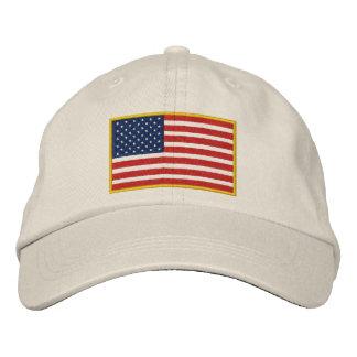 Chapeau brodé de drapeau des Etats-Unis