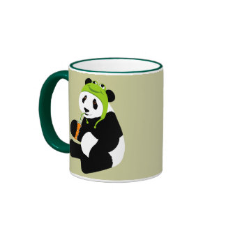 Chapeau de grenouille de panda tasse
