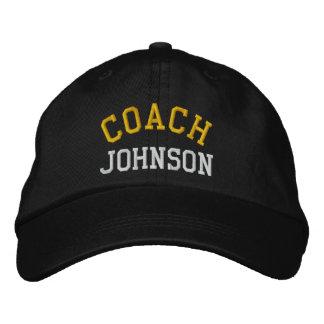 Chapeau d'entraîneur brodé par coutume casquettes de baseball brodées