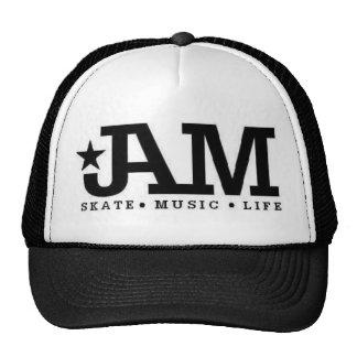 Chapeau noir de patin de confiture casquettes de camionneur