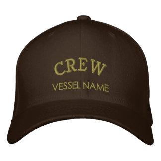 Chapeau personnalisé d'équipage de nom de bateau casquettes de baseball brodées