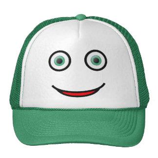 Chapeau souriant heureux de camionneur de visage d casquette de camionneur
