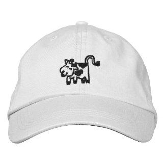 Chapeaux brodés de vache