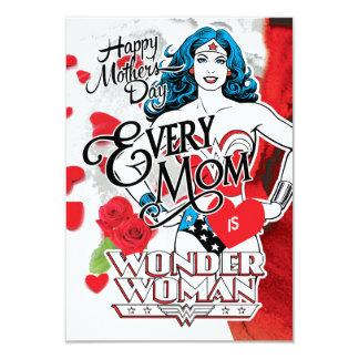 Chaque maman est femme de merveille carton d'invitation 8,89 cm x 12,70 cm