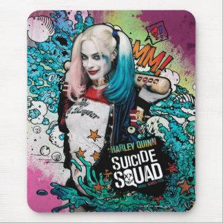 Charakter-Graffiti der Selbstmord-Gruppen-| Harley Mousepads
