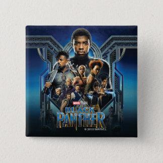Charaktere des schwarzen Panther-  über Wakanda Quadratischer Button 5,1 Cm