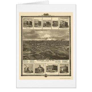 Chariton, IA panoramische Karte - 1875